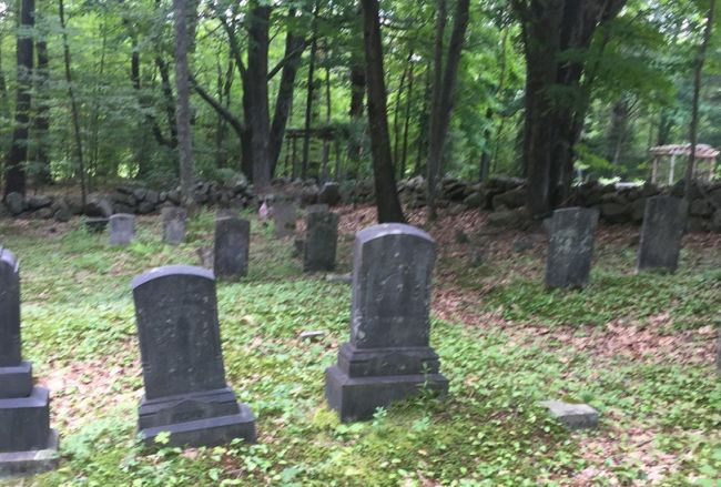Volunteer maintained Dowst-Cate Cemetery.